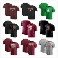 camisas de cuello personalizado al por mayor-Custom Florida State Seminoles St. Patricks Day cuello redondo camiseta Fshion Summer manga corta camiseta envío gratis
