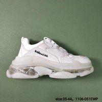 renkli üst üst spor ayakkabılar toptan satış-Sıcak yeni yüksek kaliteli Triple-S gündelik ayakkabı erkek ve kadın spor ayakkabıları ayakkabıları büyük renkli kalın Düşük baba ayakkabı lmixed tasarlayabilirsiniz