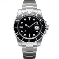 relógio lunar automático de cerâmica venda por atacado-Luxo Mens Relógios Top Homens De Luxo Automático Mecânico 2813 Relógios De Cerâmica Painel De Aço Inoxidável 40mm Homem Luminoso À Prova D 'Água relógio de Pulso