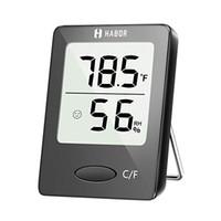 medidor de humedad al por mayor-Higrómetro digital, termómetro para interiores, indicador de humedad, termómetro de sala, medidor de monitor de humedad de temperatura precisa para el hogar, Offi