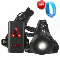antorcha impermeable al por mayor-Juego de luces para correr nocturnas Antorcha de LED y luz de brazalete recargable Impermeable 3 modos Correa ajustable Advertencia Advertencia Luz del cuerpo
