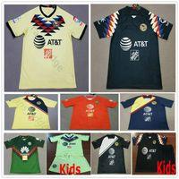7c6c81a3032 2019 2020 LIGA MX Club America Soccer Jerseys C.DOMINGUEZ R.JIMENEZ R. SAMBUEZA P.AGUILAR Home Away Adult Kids Women Football Shirt
