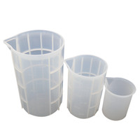 Wholesale resin casts resale online - Large Silicone Resin Measuring Cup ml ml with Anti Slip Textured Grid Resin Cast Epoxy Mixing Cup UV Resin Mold Craft Tool