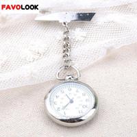 ingrosso clip di orologi mediche di cura-New Style Large Face Infermiera Clip Watch Medical Use Pocket Fob Brooch Orologio al quarzo Pin Pin Catenaccio