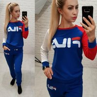 Wholesale motorcycle racing clothes resale online - 2 Two Piece Set Top and Pants Women Tracksuit Casual Outfit Sports Suit Green Patchwork Women Sweatsuits Clothing Size S XL
