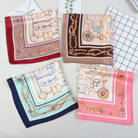 Wholesale good quality silk flowers for sale - Group buy Good quality version of the new Leopard small horseshoe square cm silk twill scarf Women Designer Scarves Female flowers Painting shawl