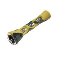ingrosso mini tubo portaoggetti portatile-Mini silicone portatile tubi di acqua Bong Acqua Pipe tubo di tabacco per Dry Herb Twisty Vetro Blunt mano Narghilè