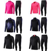 costumes noirs roses achat en gros de-19 20 psg tracksui enfants kits football jogging costumes costume de football formation survêtement ensemble rose noir piste de course survetement psg
