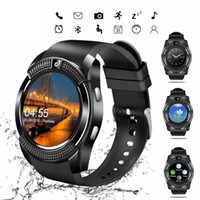 Wholesale ladies smart watches for sale - Group buy Smart Watch V8 Men Bluetooth Sport Watches Women Ladies Rel gio Smartwatch with Camera Sim Card Slot Android Phone PK DZ09 Y1 A1 Retail
