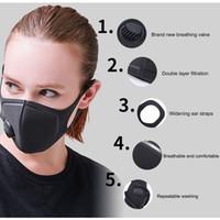 nefes alabilen maskeler toptan satış-Sıcak Solunum Toz Maskesi yükseltilmiş sürümü Erkekler Kadınlar Anti-sis Haze Toz PM2.5 Polen 3D Nefes Vana Maske Kırpıldı