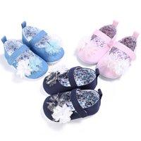 hermosos zapatos nuevas chicas al por mayor-Nuevo multicolor hermoso lindo bebé niña flores zapatos bebé recién nacido bebé suave del algodón de alta calidad primeros caminantes zapatos 3 color