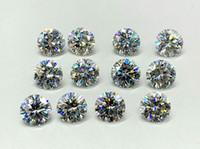 ingrosso perline diamanti sciolti-La maggior parte Brilliant F Color VS1 1.6mm White Moissanite Stones Synthetic Loose Moissanite Beads Diamond Test positivo