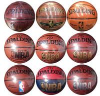 bolas ao ar livre indoor de basquete venda por atacado-Qualidade superior Size7 bolas PU Ao Ar Livre Indoor Cesta De Couro Bola De Basquete Equipamento de Treinamento Com e Pin Frete Grátis