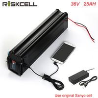 ingrosso caricabatterie di vita-Batteria elettrica al litio a celle al litio Sanyo 36Volt pesce elettrico 36V 25AH bici a ciclo profondo