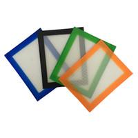 almohadillas de comida al por mayor-EE. UU. Canadá FDA FDA platino curado de grado alimenticio tamaño pequeño 102x127mm antiadherente slick aceite concentrado silicona dab mat pad