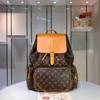 torba taklidi toptan satış-Tasarımcı çanta lüks tasarımcı çanta sırt çantası deri moda logosu büyük kapasiteli basit eğilim 1: 1 taklit Louis1 Vuitton2 M44658