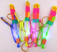 свадебная партия створка фиолетовые оптовых-большой размер светодиодные стрелки вертолет стрелка полет вертолет зонтик детские игрушки пространство НЛО светодиодные игрушки Рождество Хэллоуин Флэш-игрушки