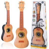 guitarra de instrumentos musicais de brinquedo venda por atacado-Crianças Estudo Guitarra De Plástico Colorido Bonito Ukulele Iniciante Instrumentos Musicais Brinquedos Tuba 21 Polegadas Bateria Necessário Venda Quente 32blb1