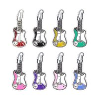 médaillons de guitare achat en gros de-20pcs / lot livraison gratuite bonne qualité nouveau type guitare charmes flottants pour médaillons en verre vivant
