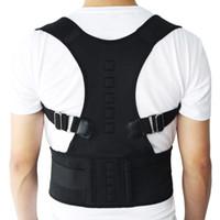новая задняя опорная лента оптовых-Новая Магнитная терапия Корректор осанки Brace плеча назад Пояс поддержки для подтяжки Поддержка плечевого ремня осанку