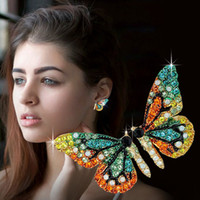 Wholesale clothes studs for sale - Group buy Designer Luxury Butterfly wing earrings earings Stud Women fashion diamond earrings girls clothing jewelry accessories for woman