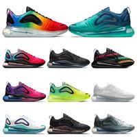 nike air max 720 2019 scarpe da corsa per uomo womens triple white nero Northern Lights CARBON GRAY Neon sunset DESERT GOLD sneakers sportive da uomo