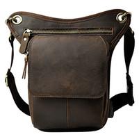 Wholesale camera kit bags for sale - Group buy Vintage Genuine Leather Men s Shoulder Bag Messenger Bag Leg Pack Waist Fanny Camera Phone Tool Kit Bags for Travel