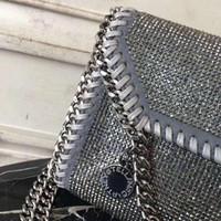 Wholesale knitted cross body bags resale online - Designer Explosion fashion new chain handbags rhinestone bag Messenger bag shoulder bag Cross Body
