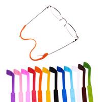 verstellbarer brillenbügel großhandel-Silikon Brillenband Praktische Brillen Sonnenbrillen Band Kabelhalter Verstellbarer Sonnenbrillenband Brillen Zubehör HHA235