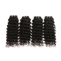 saç uzatmalarını boyama toptan satış-6 adet / grup Brezilyalı 50 gram Derin Dalga Bakire Saç Örgü Remy İnsan Saç Uzantıları Doğal Renk Hiçbir Atma Arapsaçı Ücretsiz Boyalı Olabilir