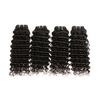 Wholesale tangled weave hair extensions for sale - Group buy 6pcs Brazilian grams Deep Wave Virgin Hair Weave Remy Human Hair Extensions Natural Color No Shedding Tangle Free Can Be Dyed