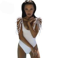 7235b6a39c580 Summer Beach Bikini One Piece Swimwear for Women Swimsuit 2019 Sexy Monokini  Bodysuits Jumpsuits Woman Tassel Fringe Swim Wear Bathing Suit
