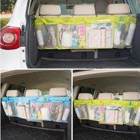 grandes sacos de armazenamento pendurado venda por atacado-Grande Auto Organizador Do Carro Bota Multifuncional Dobrável Lixo Pendurado Sacos de Armazenamento Organizador Para Capacidade de Capacidade de Assento Do Carro Bolsa EEA230