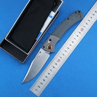 Wholesale wood handle folding knives resale online - The latest model BM HUNT folding knife S30V blade wood G10 handle camping hunting survival knife outdoor EDC tools