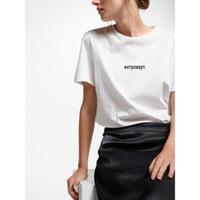 kadınlar beyaz tişörtler toptan satış-Kadınlar Giyim Kadın Tişörtü Kadın Tişörtlü Rus Harf içine kapanık Tops. Beyaz Kısa Kollu Kadın Tshirts Harajuku Tees yazdır