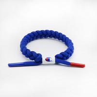 ingrosso braccialetti di lettera intrecciati-Unisex Champions Lettera Lacci Bracciale Wristband Nylon Sneakers Gioielli Intrecciati in pizzo Bracciali Street Fashion Accessori Regali C41206