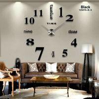 clocks großhandel-Neue 16 inchesNew Mode Spiegel DIY Wanduhr Hochwertige Dekor Wanduhr Zeitgenössische Übergröße Original Uhren