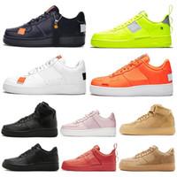 kaykay tahtası erkekler toptan satış-Nike Air Force 1 AF1 One Forces 1 Dunk Hotsale Erkekler 1 Yardımcı Siyah Kadınlar Rahat Ayakkabılar Yeşil Kaykay Yüksek Düşük Kesim Buğday eğitmenler Spor Sneakers boyutu 36-45