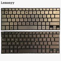 teclados sem moldura venda por atacado-Teclado novo do portátil dos EU para Asus UX31A UX31A UX31E prata / marrom sem retroiluminado / quadro