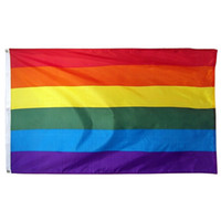 Wholesale party supplies banners for sale - Group buy Rainbow Banner Flags x150cm Lesbian Gay Pride Polyester LGBT Flag Banner Flags Party Supplies Rainbow Flag CCA11852