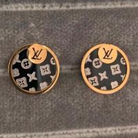 schwarze hochzeit ohrringe großhandel-3 Farbe Top Qualität Schwarz Gold Berühmten Stil Ohrstecker Edelstahl Vergoldet Ohrringe Für Hochzeitsgeschenke