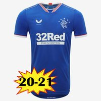 ingrosso home t-shirt-2019 New Rangers FC Home Blue Soccer Maglie 2019 2020 kit Glasgow Rangers attrezzature Calcio Camicia Uniformi top tee Maillot