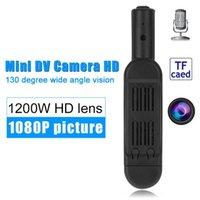 polizeikameras groihandel-Full HD Mini-DV-Taschenkörper-Mini-Kamera mit Clip-Stift-Kamera-Videorecorder-Polizeikamera-Mini-Camcorder-TV aus schwarzem T189 Dropshipping