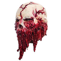 Wholesale mask horror zombie for sale - Group buy Halloween Mask Horror Scarry Latex Maskd Skull Zombie Headgear Mask Prank Prop Ornament Red Mascaras Disfraces