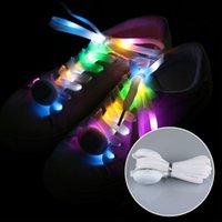 açık renkli çok renkli ışıklar toptan satış-Komik Aydınlık Renkli Serin Açık Light Up Su Geçirmez Kulübü Yanıp Sönen Parti Akülü LED Ayakkabı Bağı Büyüleyici Shoestrings