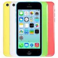 Wholesale unlock iphone 5c phones resale online - Refurbished Original Apple iPhone C Unlocked G GB GB IOS8 inch Dual Core A6 CPU MP G LTE Smart Phone Free DHL