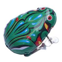 wind up springen spielzeug frosch großhandel-Iron Frog Clockwork Toy Frog Springender Frosch Kinder Kleine Spielzeuge The Nostalgic Style Animal Aufziehspielzeug Kids Vintage Toys and Gift