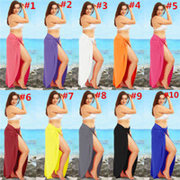 noche de vestir sexy al por mayor-Las mujeres de moda vestido de deslizamiento color sólido vestidos de playa de verano sin mangas tirantes falda sexy night club dress party wear s-5xl c3295