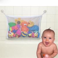 umweltfreundliche badespielzeug großhandel-Freies Verschiffen Yoleo Folding Umweltfreundliche Hohe Qualität Baby Bad Spielzeug Mesh Kind Bad Net Saugnapf Körbe