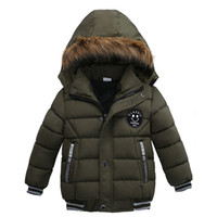2019 Fashion Autumn Winter Jacket For Boys Children Jacket Kids Hooded Warm Outerwear Coat For Boy Clothes Toddler Boy Cotton Coats HNLY23